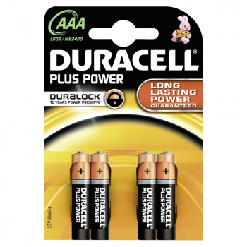 Duracell Plus Power AAA Batterien 1,5 Volt
