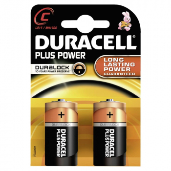 Duracell Plus Power C 1,5 Volt Batterien (2er Pack)