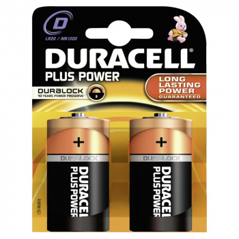 Duracell Plus Power D 1,5 Volt (2er Pack) Batterien