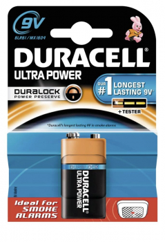 Duracell Ultra Power 9 Volt Batterie mit Powercheck