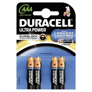 Duracell Ultra Power AAA 1,5 Volt Batterien mit Powercheck (4er Pack)