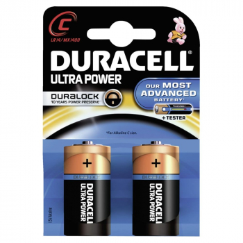Duracell Ultra Power C 1,5 Volt Batterien mit Powercheck (2er Pack)