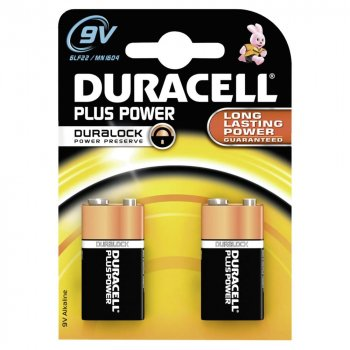 Duracell Plus Power 9 Volt (2er Pack)