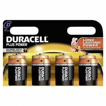 Duracell Plus Power D 1,5 Volt (4er Pack)