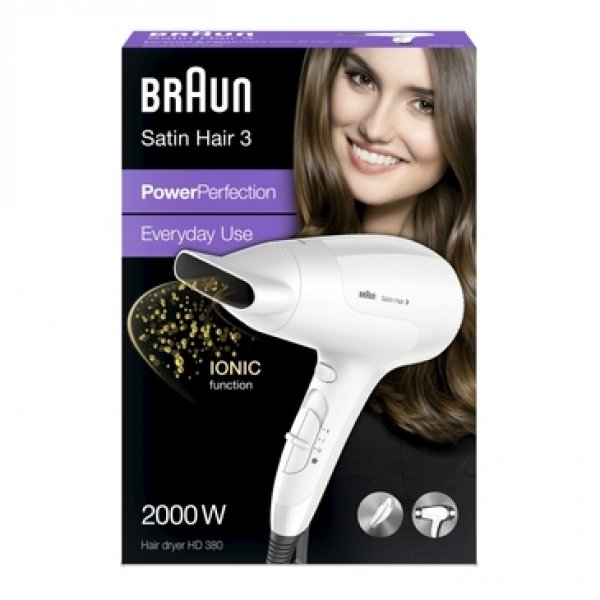Braun Satin Hair 3 PowerPerfection HD 380 Haartrockner