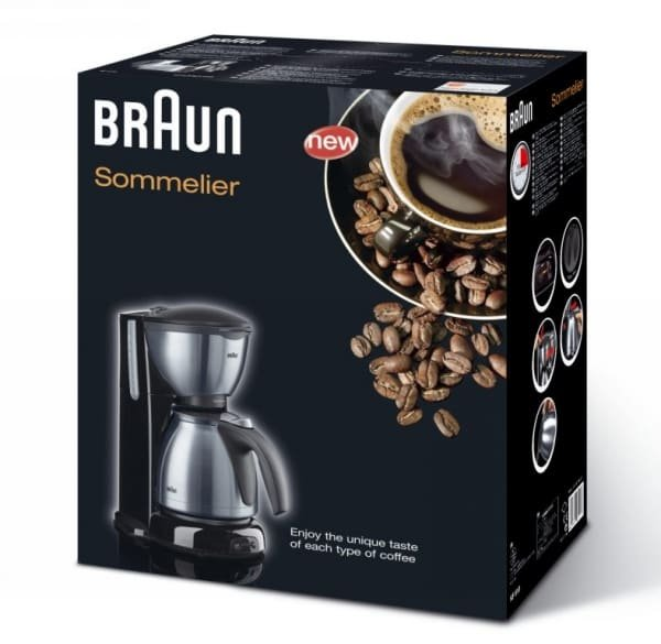 braun kaffeemaschine kf 610 sommelier schwarz edelstahl online kaufen. Black Bedroom Furniture Sets. Home Design Ideas