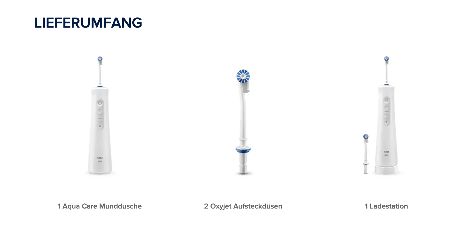 Oral-B-AquaCare6-Lieferumfang