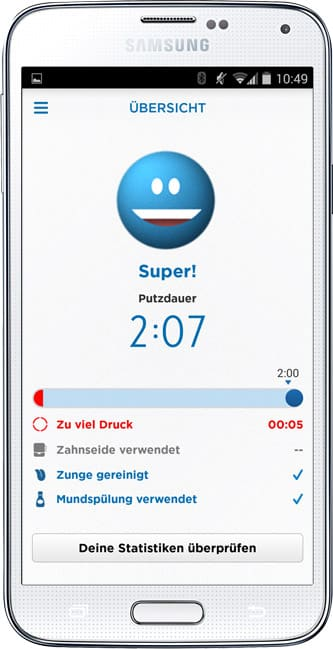 Oral-B TriZone 7000 SmartSeries WHITE mit Bluetooth-Funktion Oral-B app